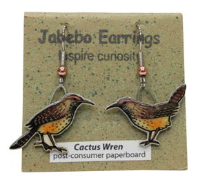 Cactus Wren Jabebo Earrings