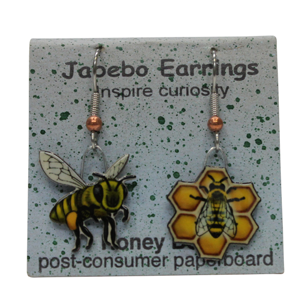 Honey Bee Jabebo Earrings