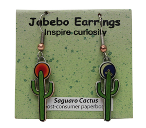 Saguaro Cactus Jabebo Earrings