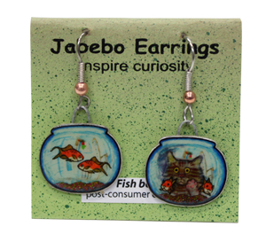 Fish Bowl Jabebo Earrings