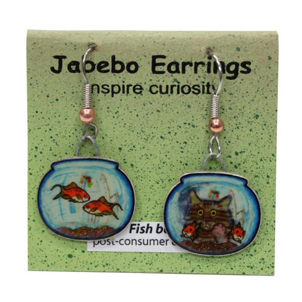 Fish Bowl Jabebo Earrings
