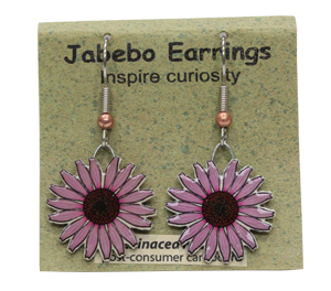 Echinacea Flower Jabebo Earrings