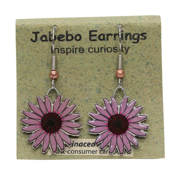 Echinacea Flower Jabebo Earrings
