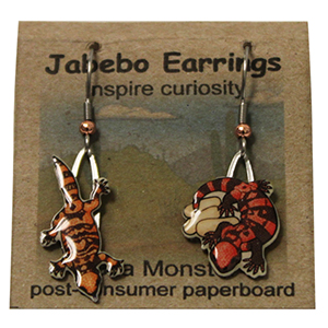 Gila Monster Jabebo Earrings