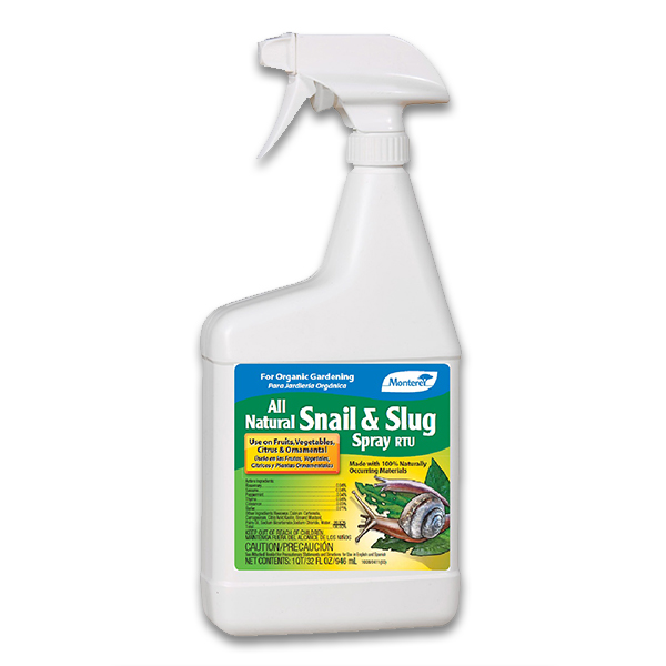 Monterey All Natural Snail & Slug Spray - Quart RTU