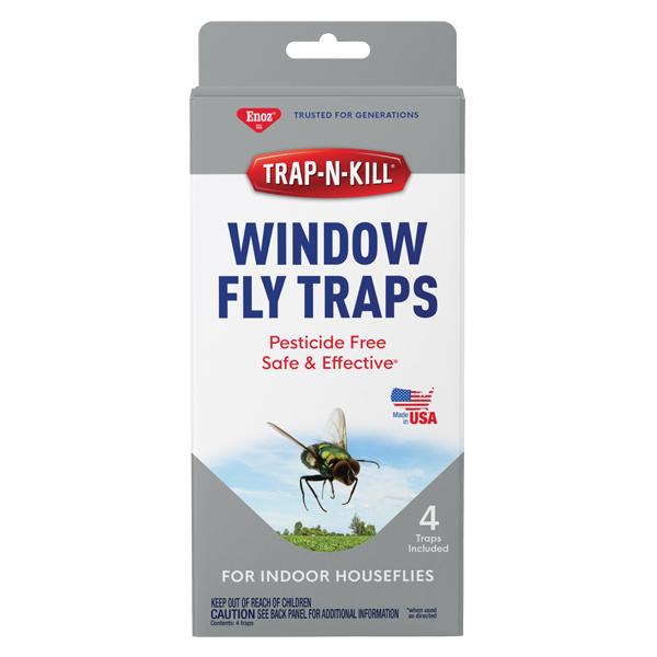 Enoz® Trap-N-Kill® Window Fly Traps - 1 Pk of 4 Traps