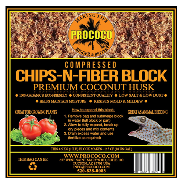 Prococo Compressed Chips-N-Fiber - 10 lbs