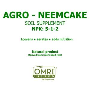 AGRO NEEMCAKE - 5-1-2, 50 lbs.