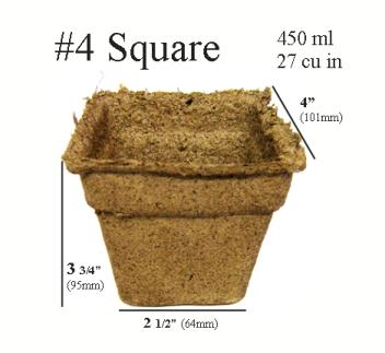 CowPots™ - #4 Square
