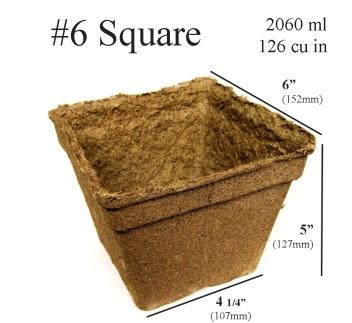 CowPots™ - #6 Square