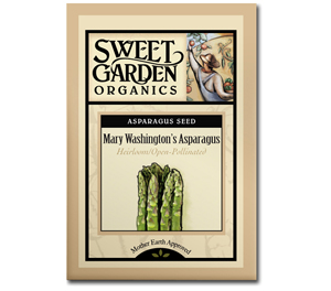 Sweet Garden Organics Seeds - Mary Washington's Asparagus