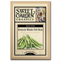 Sweet Garden Organics Seeds - Kentucky Wonder Pole Beans