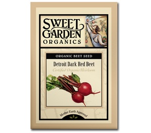 Sweet Garden Organics Seeds - Detroit Dark Red Beet