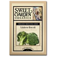 Sweet Garden Organics Seeds - Calabrese Broccoli