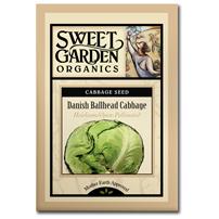 Sweet Garden Organics Seeds - Danish Ballhead Cabbage