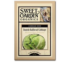 Sweet Garden Organics Seeds - Danish Ballhead Cabbage