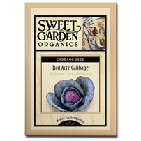 Sweet Garden Organics Seeds - Red Acre Cabbage