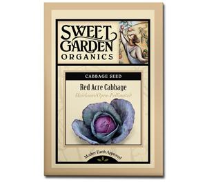 Sweet Garden Organics Seeds - Red Acre Cabbage