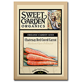 Sweet Garden Organics Seeds - Chatenay Red Cored Carrot