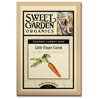 Sweet Garden Organics Seeds - Little Finger Carrot