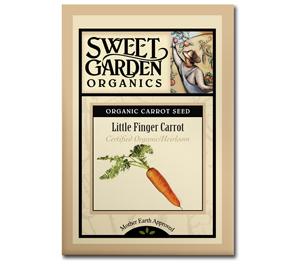 Sweet Garden Organics Seeds - Little Finger Carrot