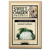 Sweet Garden Organics Seeds - Snowball Cauliflower