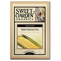 Sweet Garden Organics Seeds - Golden Bantam Corn