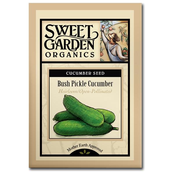 Sweet Garden Organics Seeds - Bush Pickle Cucumber