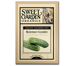 Sweet Garden Organics Seeds - Marketmore Cucumber