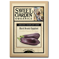 Sweet Garden Organics Seeds - Black Beauty Eggplant