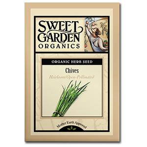 Sweet Garden Organics Seeds - Chives