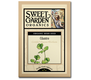 Sweet Garden Organics Seeds - Cilantro