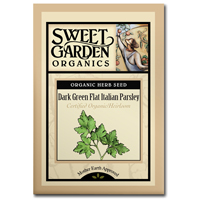 Sweet Garden Organics Seeds - Dark Green Flat Italian Parsley