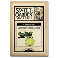 Sweet Garden Organics Seeds - Early White Vienna Kohlrabi