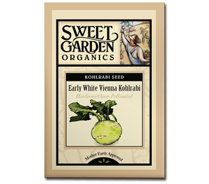 Sweet Garden Organics Seeds - Early White Vienna Kohlrabi