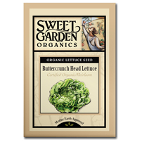 Sweet Garden Organics Seeds - Buttercrunch Head Lettuce