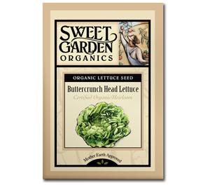Sweet Garden Organics Seeds - Buttercrunch Head Lettuce