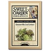 Sweet Garden Organics Seeds - Gourmet Mix Leaf Lettuce