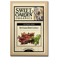 Sweet Garden Organics Seeds - Red Salad Bowl Lettuce