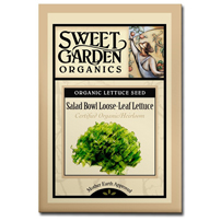 Sweet Garden Organics Seeds - Salad Bowl Loose Leaf Lettuce