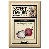 Sweet Garden Organics Seeds - Red Burgundy Onion