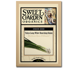Sweet Garden Organics Seeds - Tokyo Long Bunching Onion