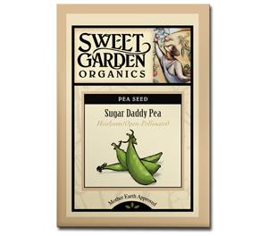 Sweet Garden Organics Seeds - Sugar Daddy Pea