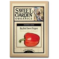 Sweet Garden Organics Seeds - Big Red Sweet Pepper