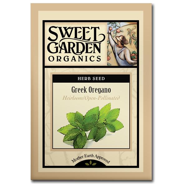 Sweet Garden Organics Seeds - Greek Oregano
