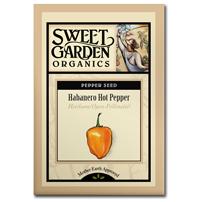 Sweet Garden Organics Seeds - Habanero Pepper