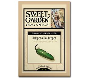 Sweet Garden Organics Seeds - Jalapeño
