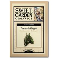 Sweet Garden Organics Seeds - Poblano Chile
