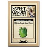 Sweet Garden Organics Seeds - California Wonder Sweet Pepper