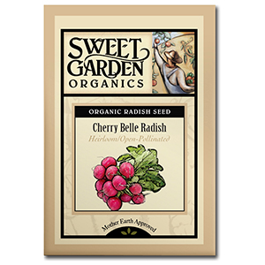 Sweet Garden Organics Seeds - Cherry Belle Radish
